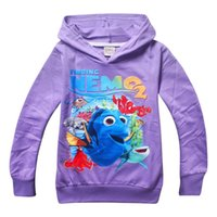Wholesale 2016 hottest kids style Finding Dory Nemo children female children Sweater Hoodie cotton looped fabric a