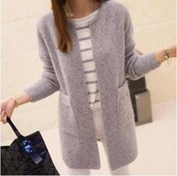 Wholesale New Winter Women Casual Long Sleeve Knitted Cardigans Autumn Crochet Ladies Sweaters Fashion Tricotado Cardigan Top Quality