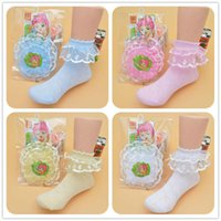 Wholesale 2016 Summer Baby Girls Socks Kids Princess Ankle Socks Cotton Polyester Girls Ruffled Dancing Socks T547