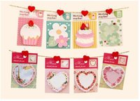Wholesale 1set cute cake memo pad heart notes writing marker Sticky notes office sticker kawaii planner stickers paper book