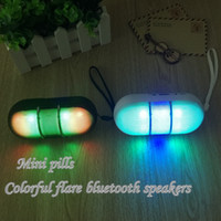 audio flash cards - LED Bluetooth Speakers Pill Light Flash Mini Protable Wireless Smart Hands free Speaker Support FM Radio TF Card U disk