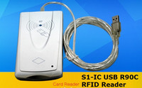 Wholesale S1 IC USB R90C RFID Reader Sliver iso4443a Only Read Reader For ISO14443A S50 S70 NTAG213 ICODE2 RFID Reader