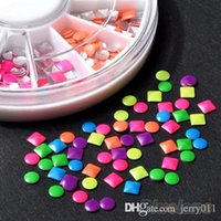 Wholesale 6 Colors Stud Nail Art D DIY Design Decoration Stickers Metallic Studs NK7
