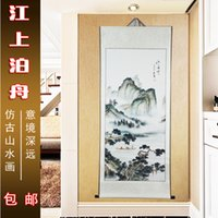 Wholesale Chinese ink Jiang Shanbo boat archaize handmade In a boxThe early opening nine discountThe sitting room dedicated study