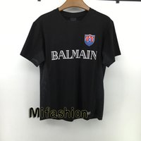 Wholesale 2016 Hip Hop Summer Fashion Balmain Patchwork Tshirt Top Sports Fast Dry Sport T Shirt Slim Fit Tee Side Mesh For Women and Men