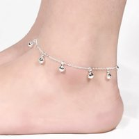 bell classic - Pretty New Lovely Women Bells Anklets Bracelets Lobster Clasp Fashion Jewelry Sterling Silver Anklets Brand Style High Quality