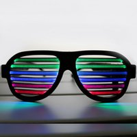 Wholesale Color Sound Active Lined Flashing LED Glasses Luminous Colorful For Dance DJ Party eyeglasses Party Glasses Luminous Flashing Sound Activate