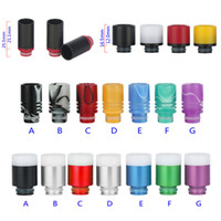 Wholesale 510 Teflon Spraying Drip Tips for eGo Ecig RDA Atomizers Aluminum Resin Buttons Styled Airflow Adjustable Drip Tips DHL Free