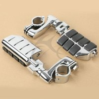 Wholesale Universal Highway FootPeg Footrest For Harley mm Engine Guard Crash Bar Chrome