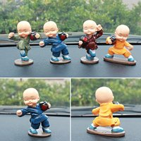 Wholesale Car four young monk monk kung fu drunken master Chinese style furnishing articles lovely decorations inside the car