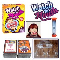 Wholesale Party Game Board Game Watch Ya Mouth Game cards mouthopeners Family Edition Hilarious Mouth Guard HHA1130