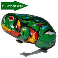 Wholesale Kids Tin Wind Up Clockwork Toy Jumping Frog Toys For Children Boys Educational 2