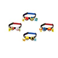 Wholesale Poke belt ball Pikachu sets toys New children cartoon Cosplay poke go ball Telescopic belt set Charmander Jeni turtle toys
