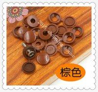 Wholesale brown mm furniture accessories Plastic plug cap screw lid cover GM furniture decorative cap cove