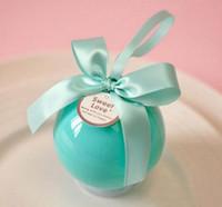 balls ideas - Marriage idea Round ball candy box Wedding and joyful box Plastic round box the crystal ball candy box