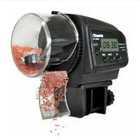 aquarium display - Automatic Manual Auto Feeding Convenient Aquarium Fish Tank Food Feeder Timer LCD Display