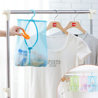 Fabric Tools Stocked 2pcs multipurpose Hanging Mesh Storage Bag Clothes toy laundry organizer with hook Outdoor Dry Practical Pouch
