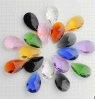 Wholesale 38mm MIXED COLOR crystal almond french pendant chandelier crystal prisms crystal lighting parts shinning hanging beads