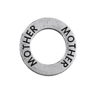 affirmation necklace - Myshape Antique silver plated Affirmation charms Engravesd Letter MOTHER circle charms family jewelry for bracelet necklaces