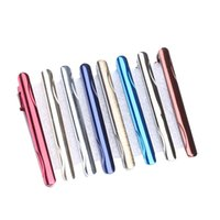 Wholesale Argositment Fashion Alloy Tie Clip Set for Men with Packing Mixed Colors