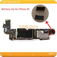 battery terminal repair - 50pcs BATTERY CLIP CONNECTOR TERMINAL BOARD FPC Plug Contact repair parts for iPHONE S