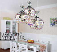 american meal - American country pastoral Mediterranean flowers retro lamp chandelier Three restaurants aluminum chandelier Meal lights bedroom lights