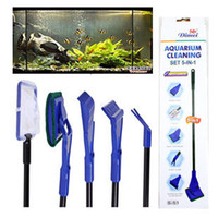Wholesale Aquarium fish tank aquarium fish tank cleaning brush cleaning tools Observing long handled brush tank cleaning kit