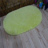 Wholesale Brand New Home Furnishing Processing Customized Antarctic Velvet Carpet Water Imbibition Quickly Oval Soft Bath Maths