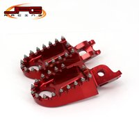 Wholesale Billet CNC MX Wide Foot Pegs Pedals Rests CR CRF CR125 CR250 CR500 CRF250 CRF450 Motocross Enduro Supermotard