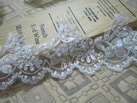 beaded trim fringe - luxury beaded lace fabric trim beaded fringe trim cord lace fabric lace applique for wedding