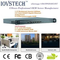 Wholesale Stable gigabit ethernet with i5 processor gb ram gb msata ssd rack U Soft Router Firewall VOIP Netwotk Security Server