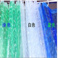 Wholesale 2000pcs m Shower Curtain Bath Curtain Thicken D Effect Water Proof Water Cube Shower Curtain jy379