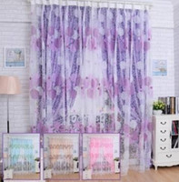 Wholesale x200cm Bird Nest Print Tulle Window Curtain Balcony Bedroom Bay Window Screen Can be used as a door window curtain