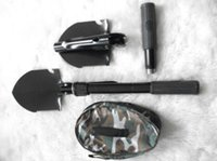 backpacking shovel - Top quality Mini Multi function Folding Camping Shovel Survival Trowel Dibble Pick Outdoor tool