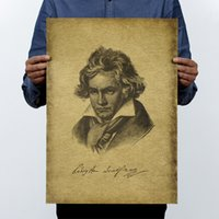 beethoven movies - Musician Beethoven Vintage Kraft Paper Movie Poster Home Decor Wall Decals Art Craft Retro Painting