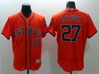 Wholesale New Flexbase Baseball Jerseys Astros Altuve Jersey Orange White Grau Color Size Mix Order Polyester Flexbase Jersey