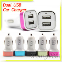 Wholesale 2 A Dual USB Port Metal Car Chargers Adapter For Ipad Samsung HTC