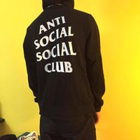 basic hoodie - Anti Social Social Club ASSC basic letter print Kanye west clothing cotton hoodie