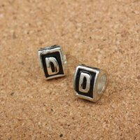 big d bracelet - 20pcs Brand New Styles Drip letter D beads big hole loose beads fit European jewelry Diy bracelet charms DK200
