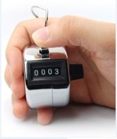 Wholesale Digits Stainless Counters Professional Digit Hand Held Tally Counter Manual Palm Clicker Number Counting Golf b526
