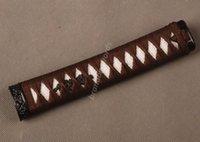 antique wakizashi - Samurai Sword Japanese Sword Wakizashi Handle Brown Ito White Rayskin Tsuka Zj14