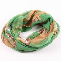 Cheap new arrival winter scarf fashion infinity Loop Scarf women Brand Design 4 Colors big clock Scarves