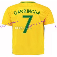 america national - 2016 copa america national team brazil home d costa soccer jerseys shirts thai quality customized garrincha football jersey soccer wear