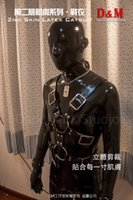 adult full costume - Top quality DM natural latex catsuit full body rubber zentai suit SM fetish costume for adults