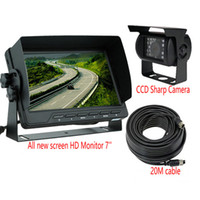 Wholesale New quot Car Bus Truck Rear View LCD Standalone Monitor System Kit with IR LED Reversing Back up Camera