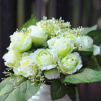 Wholesale 12 roses Home Furnishing silk flower simulation room decoration decoration flower wedding road layout