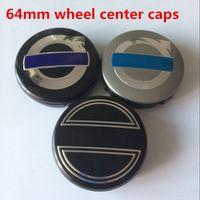 auto parts abs - 64mm Rear Wheel Center Caps ABS Wheel Covers for Volvo Auto Parts Hub Cap Cover Emblem