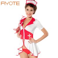 adult lingerie online - Hight Quality Pin Up Nurse Costume LC8055 Adult Halloween Costume for Women Cosplay Sexy Lingerie Set Online