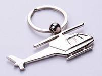 Promotion airplane key ring - Zinc Alloy Plane Keychain Mini Helicopters Model Key Ring Key Holder Plane Key chain Airplane keyring plane shape keychain