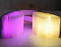 Wholesale Decorative bedsid Creative LED lamp Foldable LED lights Creative page four color book lights Nightlight USB charging folding LED book light